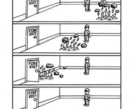 Fire exit!