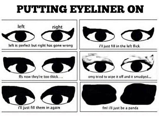 Putting-eyeliner-on