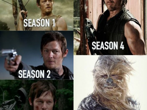 Daryl Dixon over the seasons