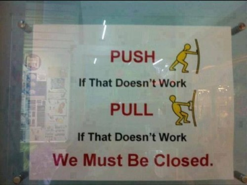 We must be closed…