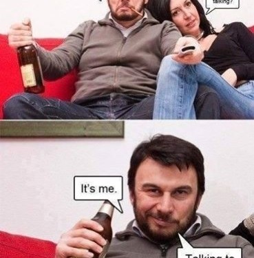 Talking to beer