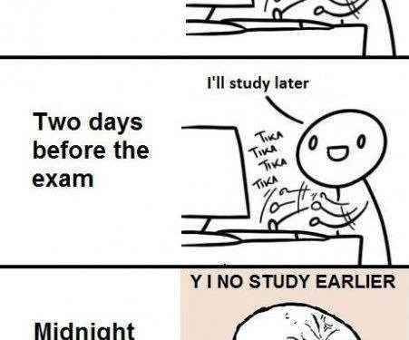 Before exam…