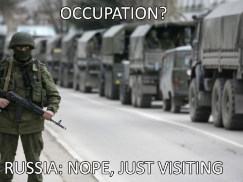 Russia just visiting