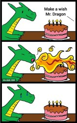 Make a wish Mr. Dragon
