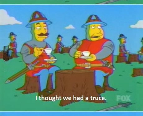 The British reaction to every war ever