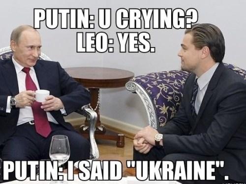 A conversation between Vladimir Putin and Leonardo Dicaprio