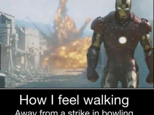 Especially since I'm usually bad at bowling…