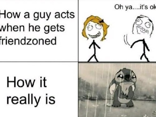 How a guy feels when he gets friendzoned
