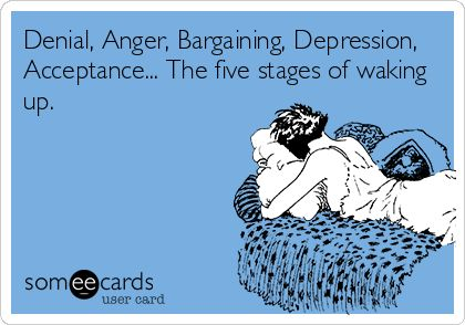 Stages of waking up