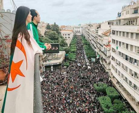 March 8th, 2019, 15 million Algerians came out in protest against the corrupt regime in such a peaceful way that despite almost 40% of the entire population being outside, there wasn't a single crime commited during and after the protests