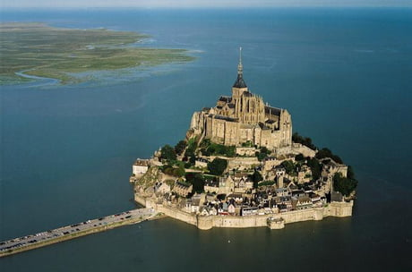 The Mont St-Michel looks like the perfect place for a zombie apocalypse.