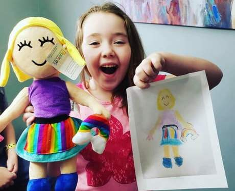 A toy company called Budsies turns Children's Drawings Into Cuddly Plush Toys.