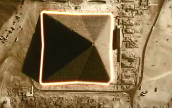 The Great Pyramid of Giza (Khufu's Pyramid) is actually 8-sided, and was purposely designed this way. The true shape of the pyramid can only be seen from the air during certain equinoxes, hence why the real shape was never discovered until the advent of air-travel.