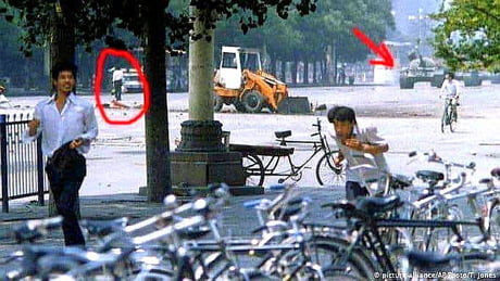 Rare photo : another positon of Tank man photo