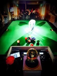Mega poolball tafel (footpool