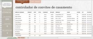 Tabela para gerenciar tarefas do Casamento no Excel