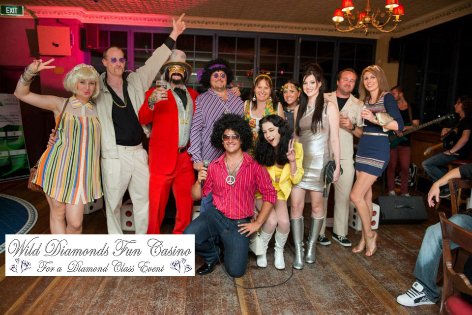 1970's party theme Gold Coast Casino Party