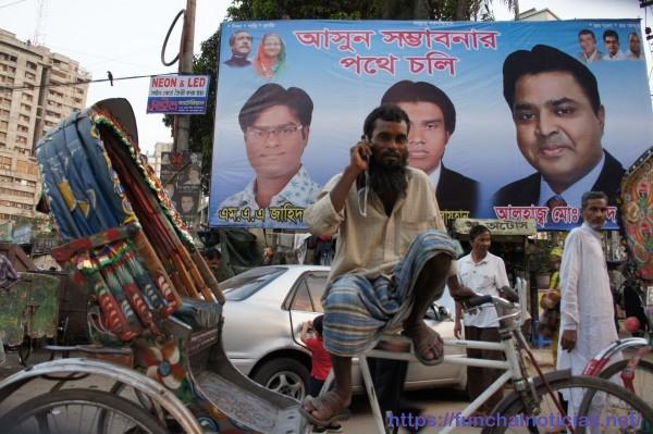 Cartaz político em Dhaka
