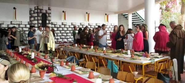 Um banquete com sabor de outros tempos, na escola dos Louros.