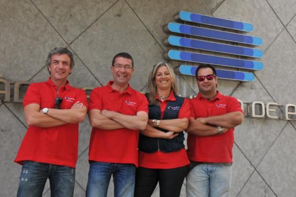 A equipa da RTP-M em terras do