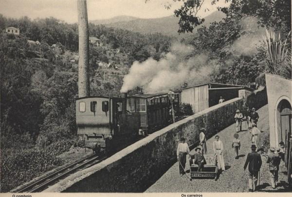 Comboio no ano de 1906  (Foto: monumentosdesaparecidos.blogspot.com)