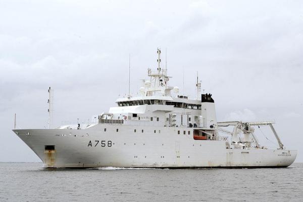Le Batiment Hydrographique et Oceanographique (BHO) Beautemps-Beaupre (A758).