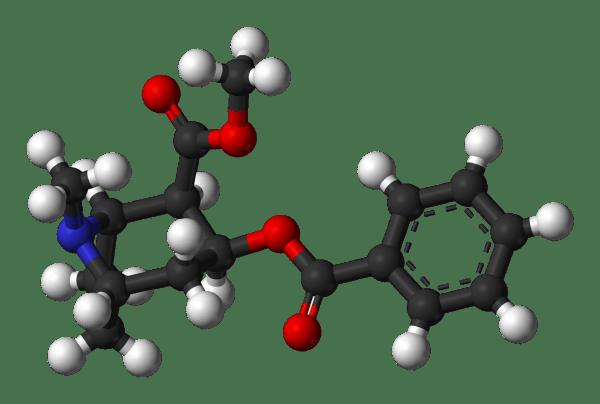 Modelo em 3D da cocaína