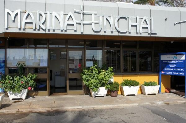 As instalações dos serviços administrativos na Marina do Funchal