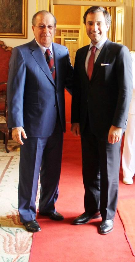 Ireneu Barreto com Miguel Perestrello, secretário de Estado da Defesa