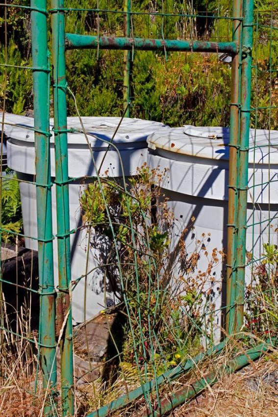 A forte vedação foi destruída. (Foto Associação Amigos do Parque Ecológico do Funchal)