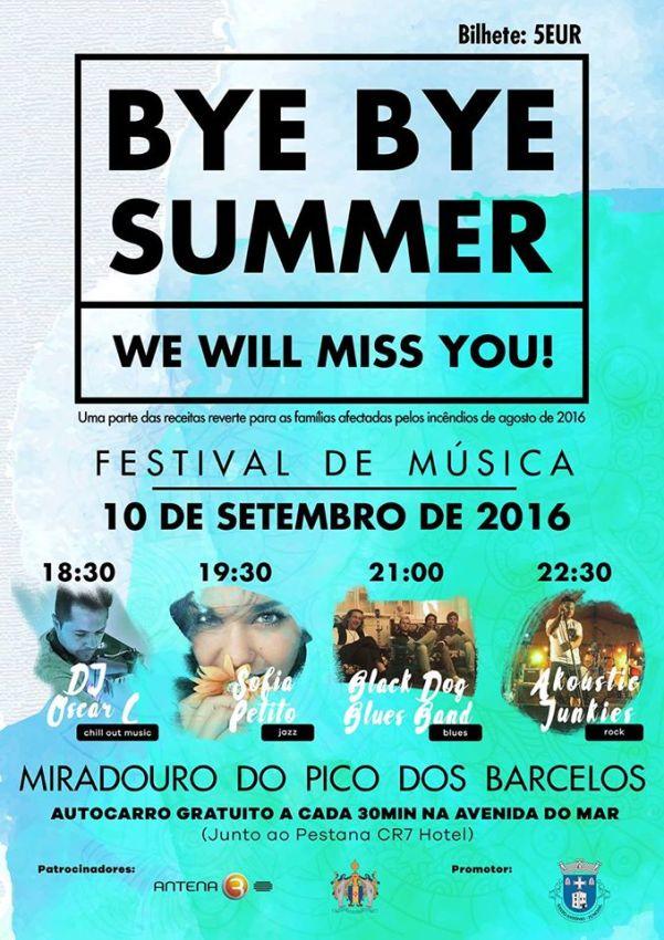 Festival de Música Bye Bye Summer Pico dos Barcelos 2016