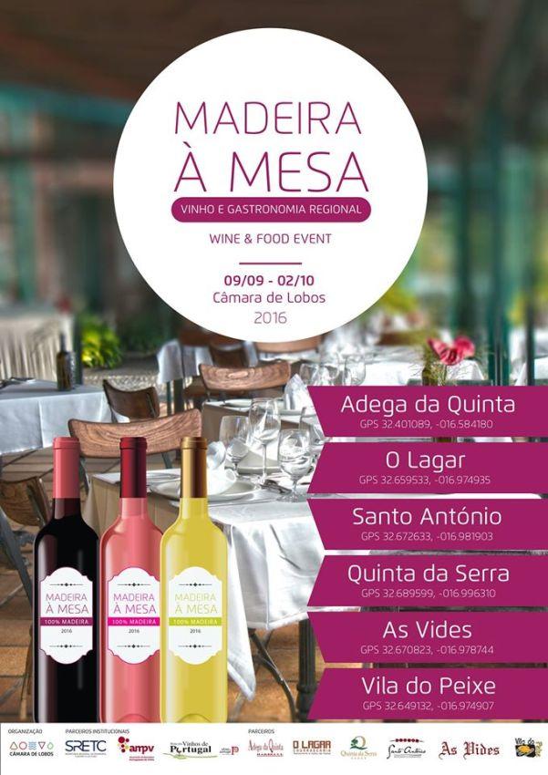 Vinho e Gastronomia Regional Madeira à Mesa 2016 Câmara de Lobos