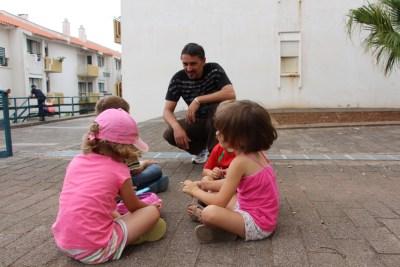 Rui Gonçalves com os filhos e a sobrinha