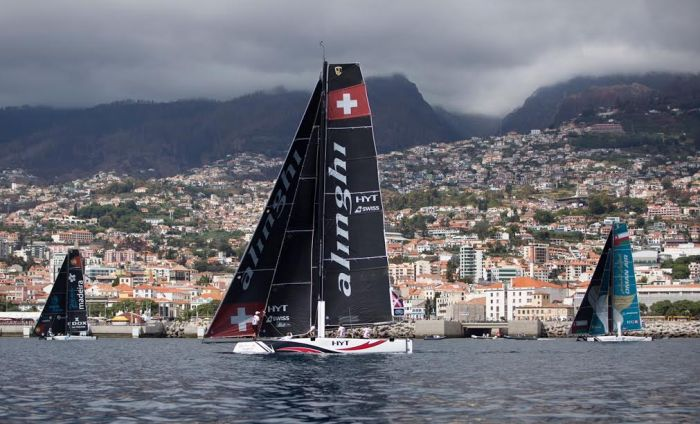 The Extreme Sailing Series 2016. Act 6. Madeira. Portugal. 25th September 2016. Credit - Lloyd Images