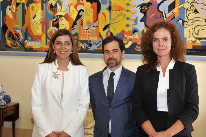 Sara Madruga com Paulo Neves e Rubina Berardo