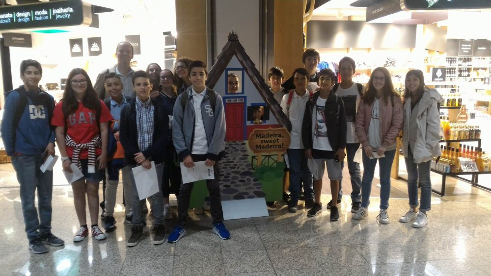 Visita de estudo a Lisboa dos alunos da Escola Horácio Bento de Gouveia