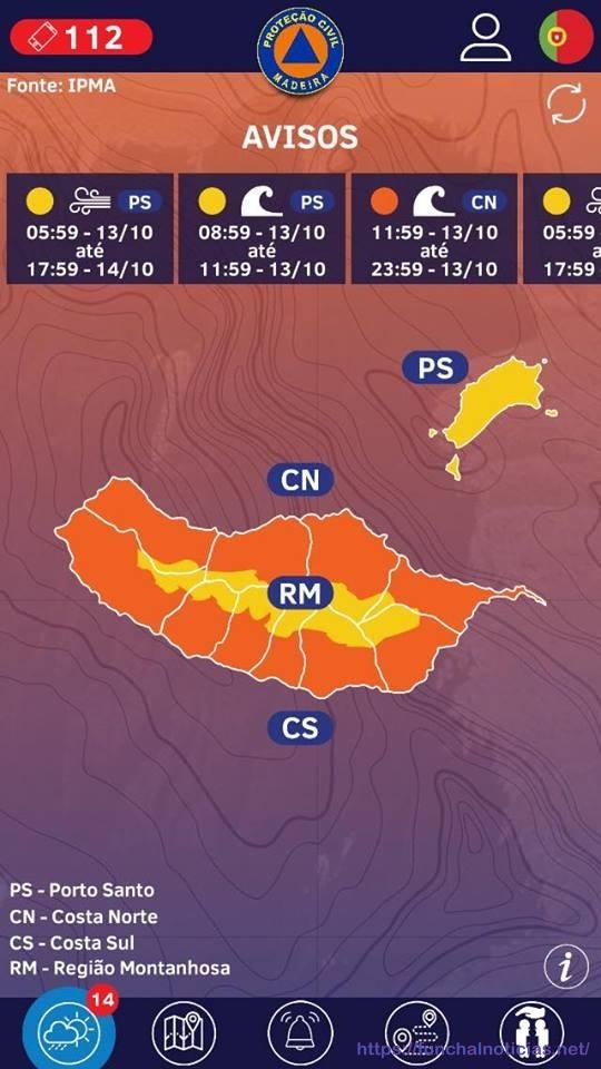 Porto Santo-Avisos APP SRPC