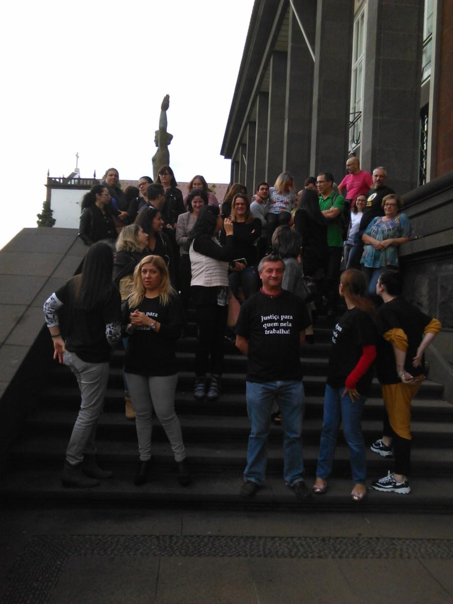 Funcionários judiciais em protesto em mais uma jornada de luta