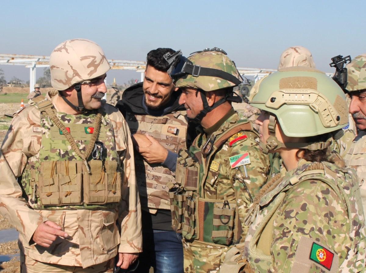 Comandante da ZMM visitou contingente madeirense estacionado no Iraque