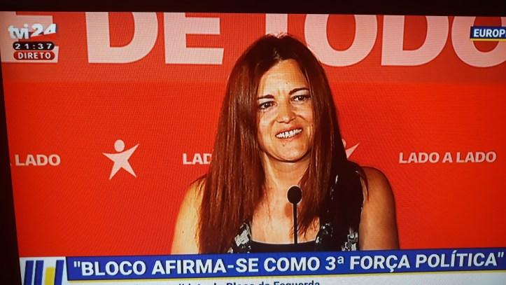 Marisa Matias noite eleitoral