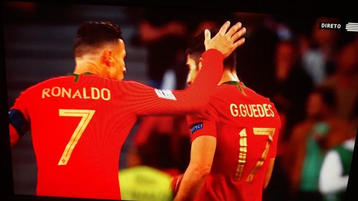 Gonçalo Guedes com Ronaldo Lifga das Nações