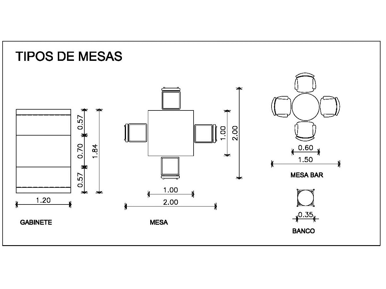 Mobiliario Autocad