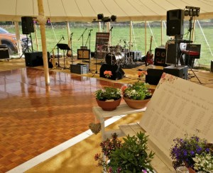 Live Music Wedding Band Function Marquee