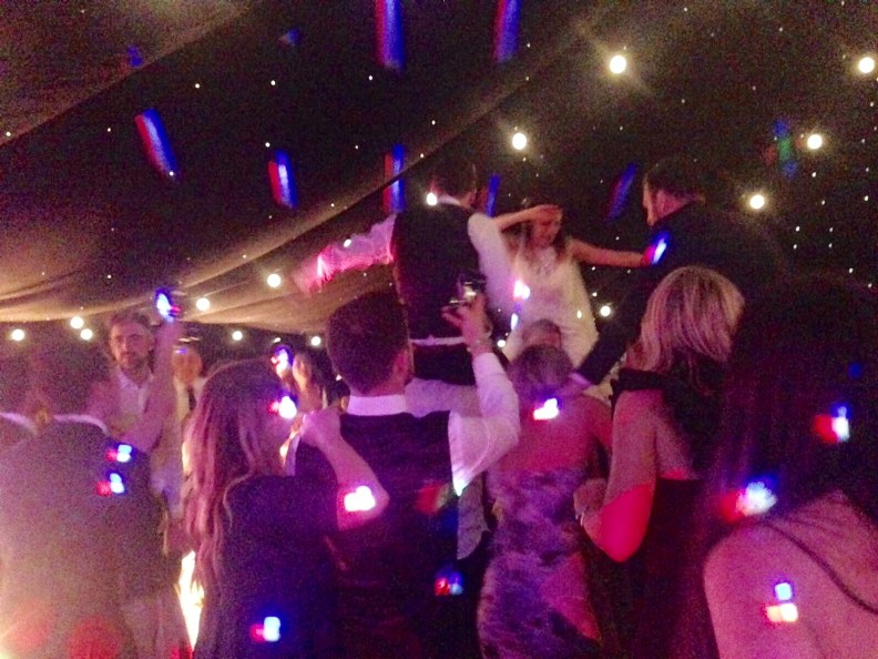 Wedding Party Crazy Dancing Bride and Groom Middleton Lodge Live Party Band Leeds