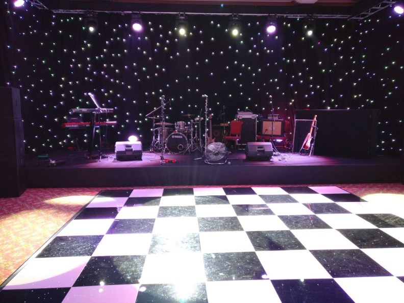 Live Music Christmas Party Glistening Backdrop Majestic Hotel Harrogate