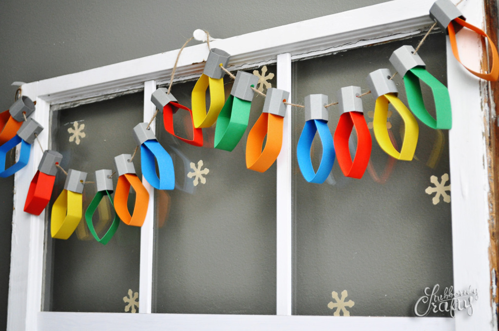 Christmas Lights Garland Fun Crafts Kids