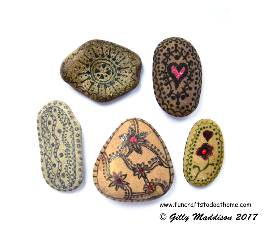 Doodling On Pebbles and Stones