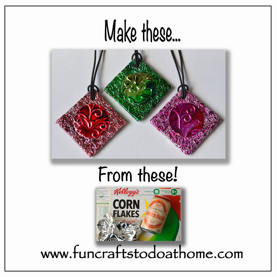 Embossed Tin – Make Pretty Pendants From Junk!