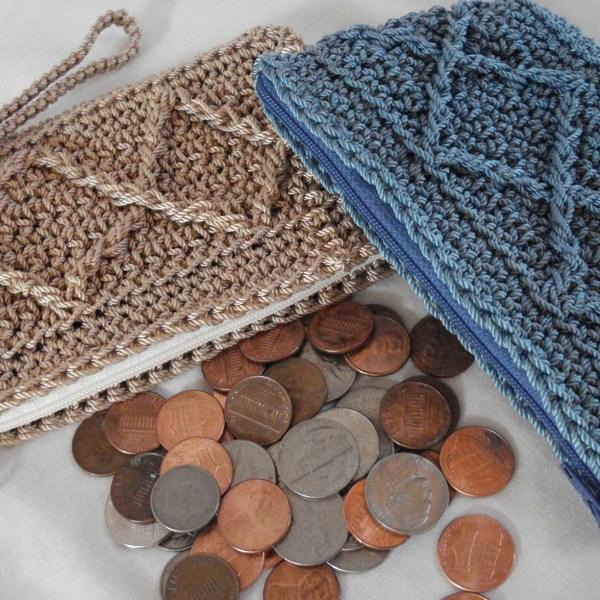 Raised Diamonds Coin Purse Pattern