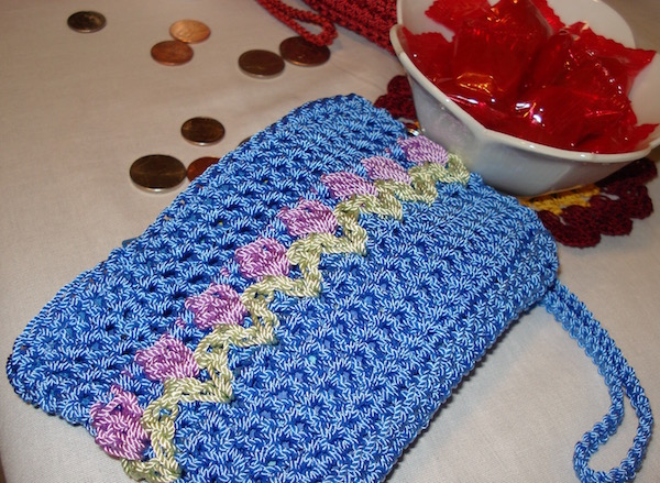Blue Tulips Coin Purse